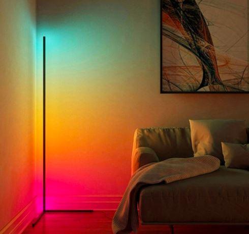 LED RGB hjørnelampe
