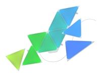 Nanoleaf Shapes Smarter Kit - Trådløst belysningssæt - LED x 15 - 1.7 W - 16 millioner farver - 1200-6500 K - triangel