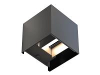 Hama - Væglampe - LED - 6 W (tilsvarende 35 W) - varm hvid til dagslys - 2700-6500 K - kvadrat - sort