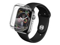 QDOS OptiGuard Infinity Defense - Støddæmper til smart watch - termoplastisk polyuretan (TPU) - klar - med skærmbeskytter - for Apple Watch (40 mm)