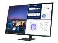 Samsung S43AM700UU - M7 Series - LED-skærm - Smart - 43 - 3840 x 2160 4K @ 60 Hz - 300 cd/m² - 5000:1 - HDR10 - 8 ms - 2xHDMI, USB-C - højtalere - s