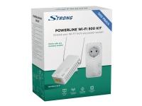 Strong Powerline Wi-Fi 500 Kit, IEEE 802.11d,IEEE 802.11g,IEEE 802.11n,IEEE 802.3,IEEE 802.3u, 10,100 Mbit/s, 802.11b,802.11g,Wi-Fi 4 (802.11n), 128-