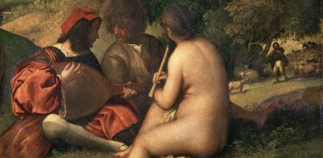 Titian, Pastoral Concert, c. 1509, 105 x 137 cm (Louvre)