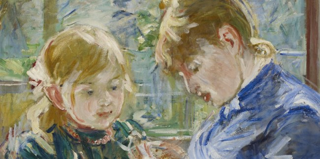 Berthe Morisot, The Artist's Daughter, Julie, with her Nanny, c. 1884, oil on canvas, 57.15 x 71.12 cm (MIA)