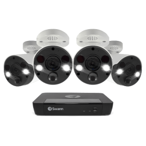 Swann 4 x 8MP 4K Spotlight Audio Camera with 2TB NVR