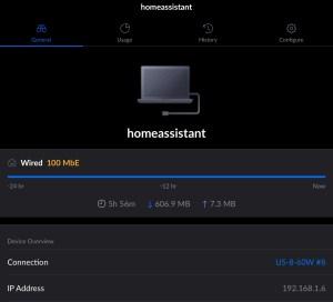 Después de conectar su Raspberry Pi, inicie sesión en su dispositivo de módem / enrutador y busque un asistente de hogar entre sus clientes conectados.  Anote la dirección IP.