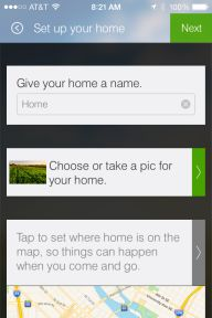 This is one of the setup screens for the SmartThings app.
