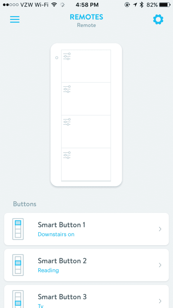 My Lutron Connected Bulb Remote setup in Wink