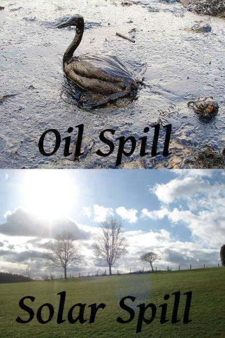 oil spill vs solar spill