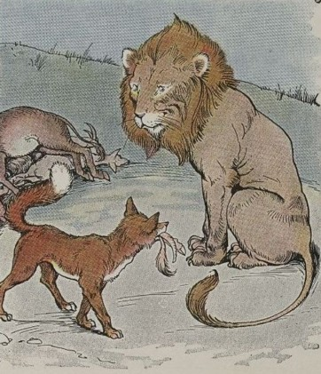 THE LION, THE ASS, AND THE FOX - Aesop Fables for Kids