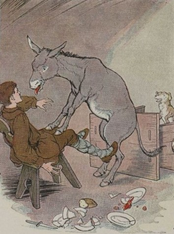 THE ASS AND THE LAP DOG – Aesop Fables for Kids