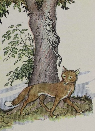 THE CAT AND THE FOX – Aesop Fables for Kids
