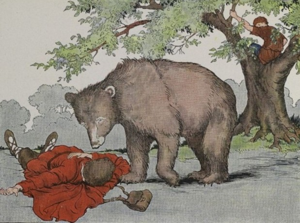 TWO TRAVELERS AND A BEAR – Aesop Fables for Kids