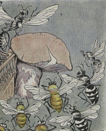 THE BEES AND WASPS, AND THE HORNET - Aesop Fables for Kids