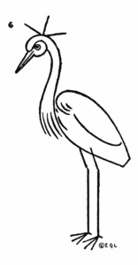 Drawing for kids step by step - Crested Crane 6