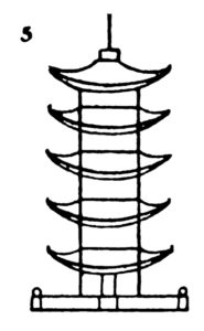 Step by step drawing for kids - How to draw Pagoda - 5
