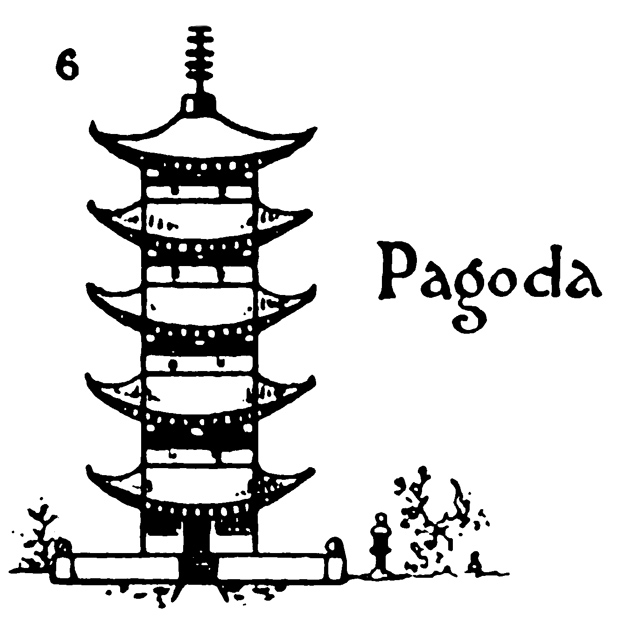 Step by step drawing for kids - How to draw Pagoda - 6