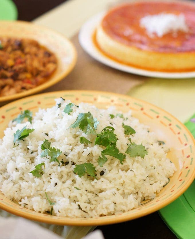 Crock-Pot Taco Chicken and Cilantro Lime Rice | SmartLittleCookie.net