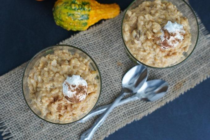 Pumpkin Spice Rice Pudding  smartlittlecookie.net