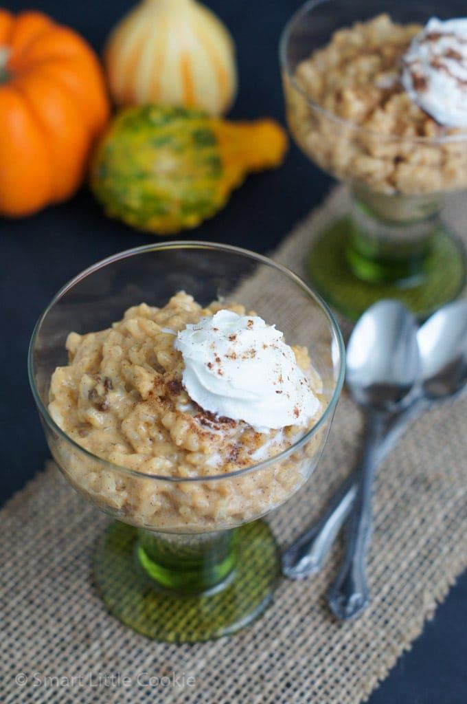 Pumpkin Spice Rice Pudding |smartlittlecookie.net