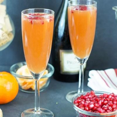 Easy Tangerine Pomegranate Mimosas