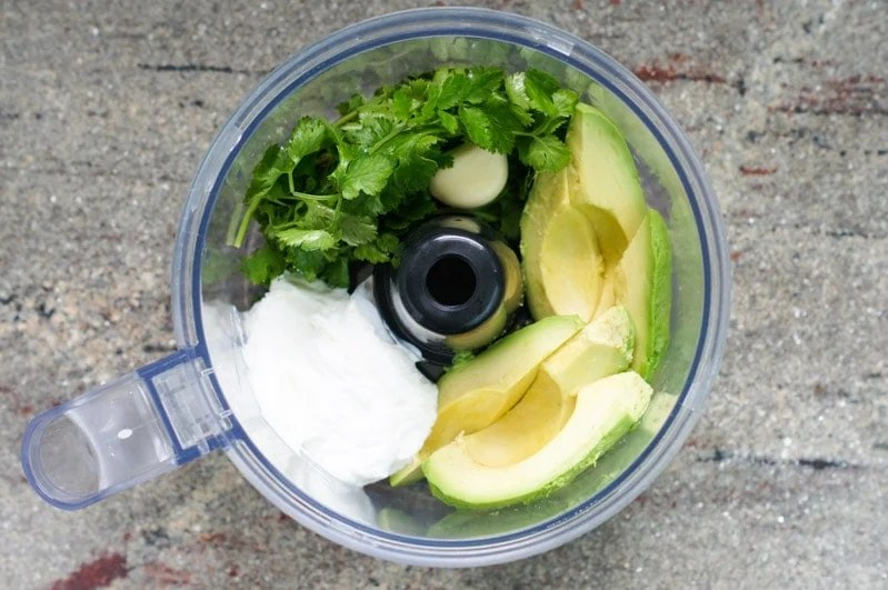 The best creamy avocado cilantro dressing! Made with only six ingredients in just 2 minutes.