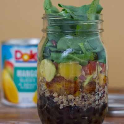 Cuban Style Quinoa Salad with Mango Avocado Salsa