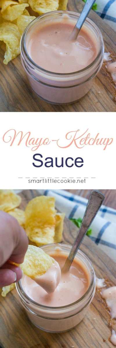Delicious garlicky mayo ketchup sauce perfect for dipping fries, tostones or as a dressing for sandwiches and burgers. smartlittlecookie.net