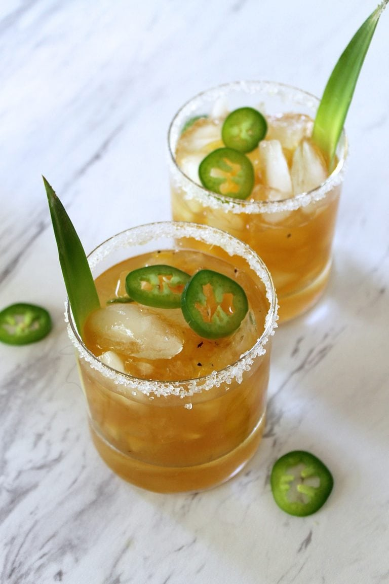 Grilled Pineapple and Jalapeño Margarita cocktail