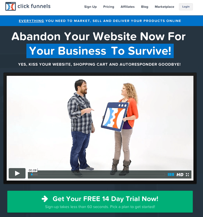 Clickfunnels Affiliate Marketing Course for Beginners. Learn how to become a super affiliate selling Clickfunnels and all of Russell Brunson's products