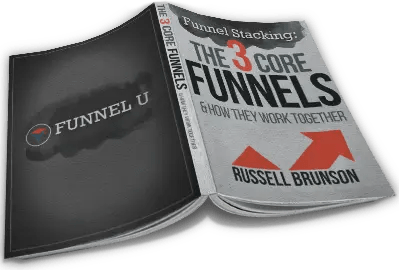 3 Core Funnels eBook by Russell Brunson shows the 3 basic funnels behind most successful and profitable funnels