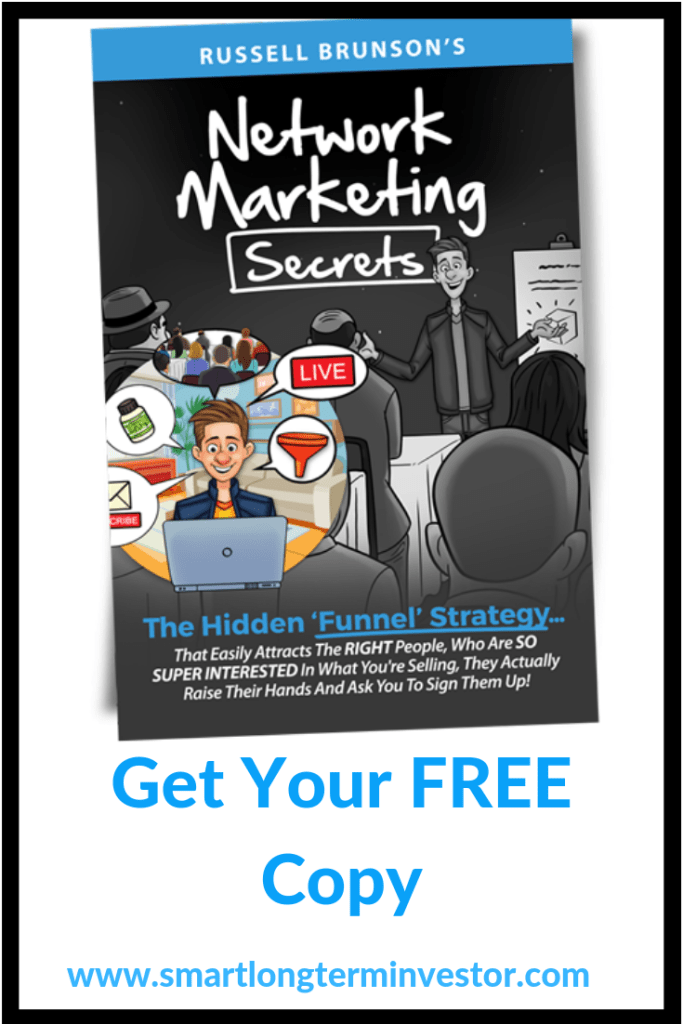 Network Marketing Secrets Book by Russell Brunson will teach you how to use sales funnels to grow your network marketing team using Clickfunnels
