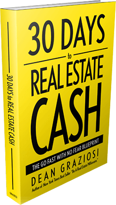 """""""30 Days To Real Estate Cash"""" by Dean Graziosi shows the strategies to start a successful real estate business in 30 days."""