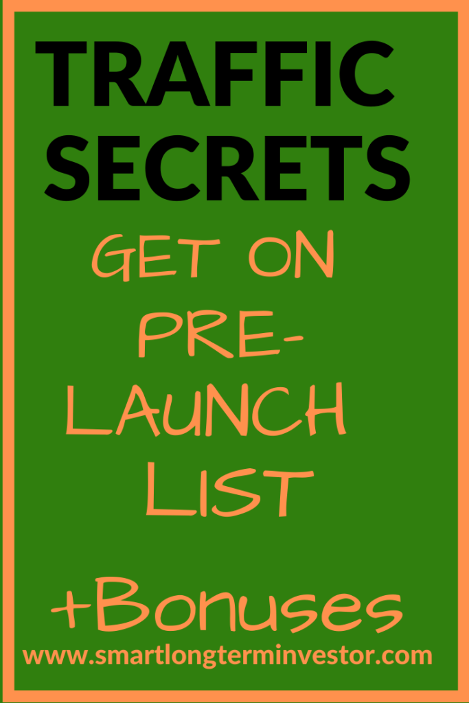 Get on the pre-launch list for Russell Bruson's Traffic Secrets due on March 17 2020 and get my best bonus package when you buy through my affiliate link