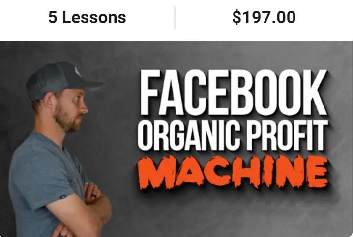 Facebook Organic Profit Machine is a Spencer Mecham's Buildapreneur Facebook course by Momen Khaiti on how to grow organic traffic using Facebook