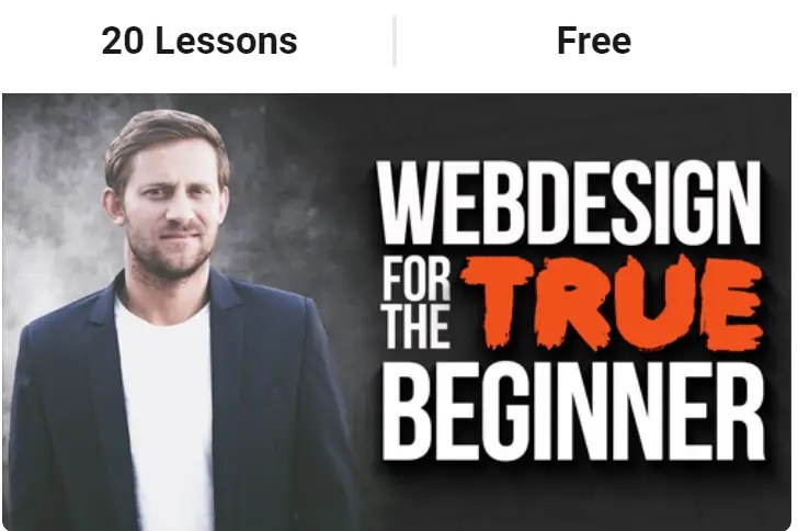 Webdesign For The True Beginner is a free step by step Buildapreneur course on how to set up a WordPress website