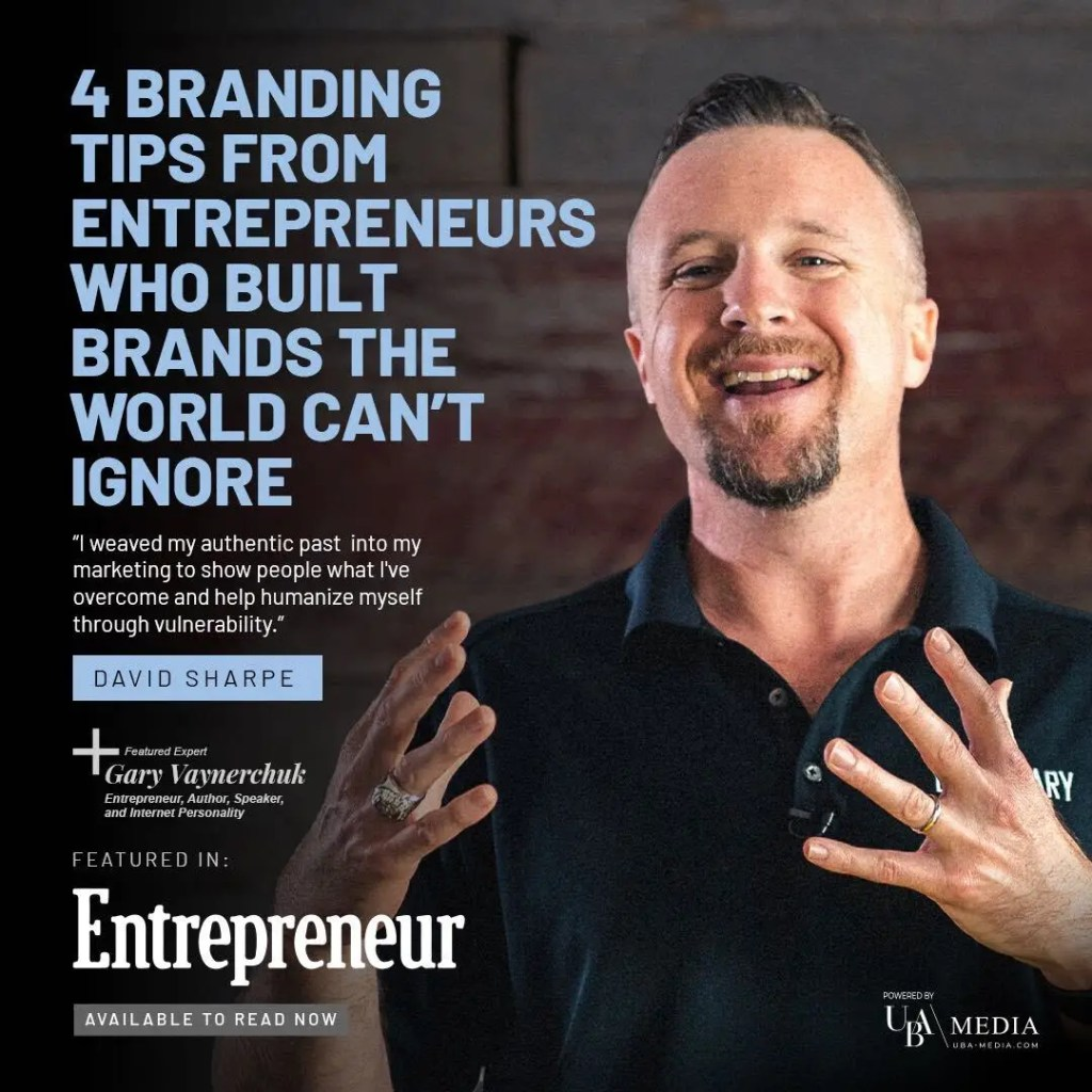 Dave Sharpe, the CEO and Founder of Legendary Marketer, the Digital Marketing Educational business is featured in Entrepreneur magazine with Gary Vaynerchuk