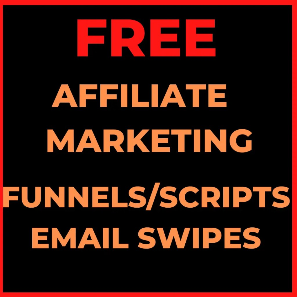 Free Affiliate Marketing funnels with scripts and email sequences as part of my Funnel Hacking Secrets bonus package