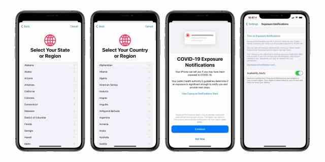 Covid-19 iOS настройки
