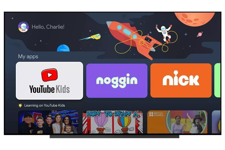 балдар үчүн google tv профилдери