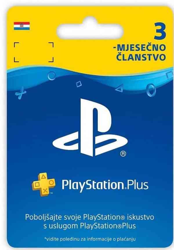 PLAYSTATION PLUS CARD Digitalni Bon za 3 mjeseca