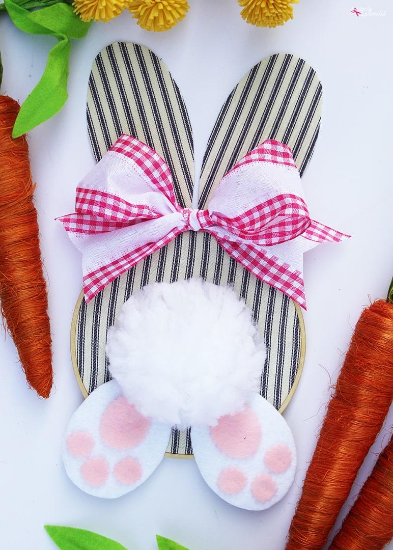 Embroidery Hoop Bunny Easter Wreath-11-min