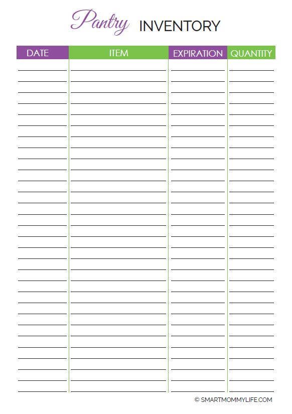 Free pantry inventory printable found in the cute weekly meal planner printable set. Use this to take an inventory of the spices in your home kitchen when making grocery list