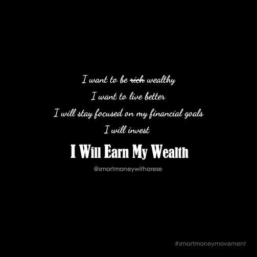 I will earn my wealth
