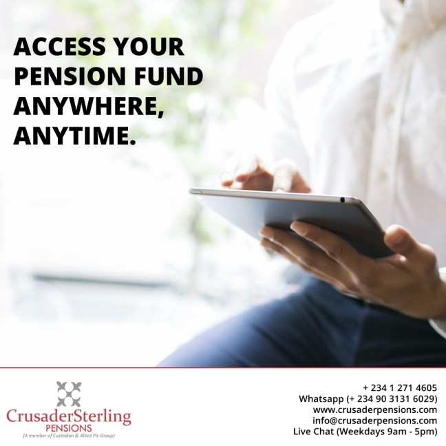 Access your pension fund anywhere, anytime