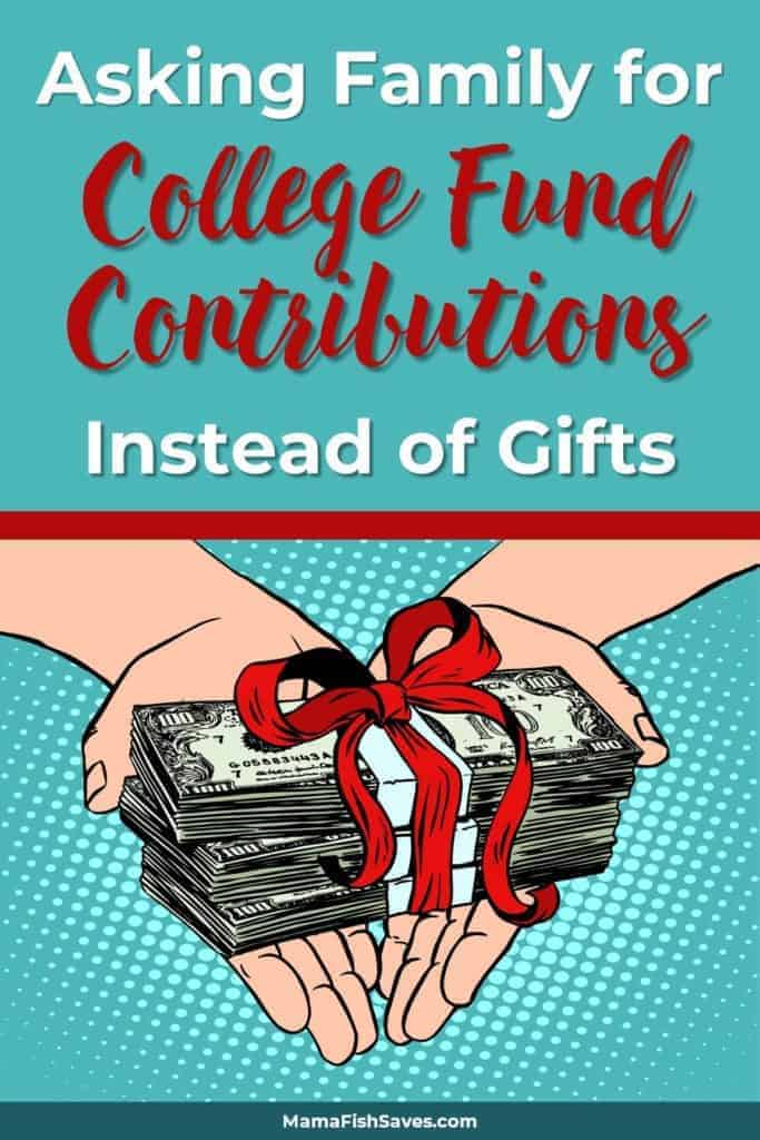 how to ask for college fund
