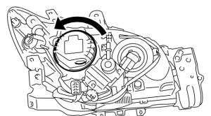 Subaru Impreza headlight bulb assembly