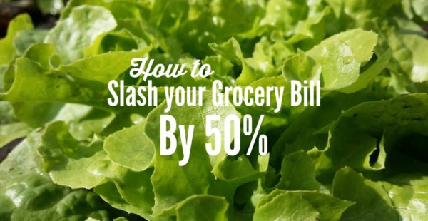 frugal living tip - save 50% on grocery shopping