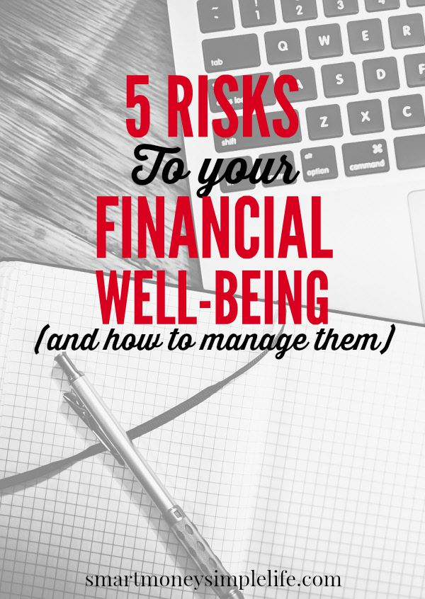 managing risks to your financial well-being