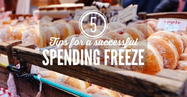 five tips for a successful no spend month